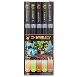 Picture of CHAMELEON 5 PEN SET EARTH