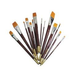 Picture of GOLDEN TAKLON FLAT BRUSHES (SIZES 0 - 30)