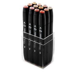 Picture of TOUCH TWIN MARKER 12 SET SKIN TONE COLOURS