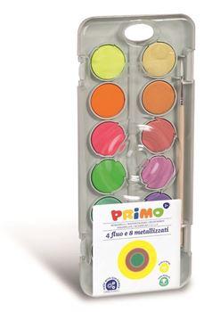 Picture of Primo Watercolour set of 12 - Metallic & Fluorescent