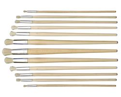 Picture of ART BOARD 12PC ROUND HOG HAIR PAINT BRUSH SET