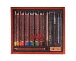 Picture of AQUARELL DRAWING SET IN WOODEN