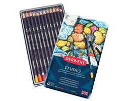Picture of DERWENT STUDIO ASSORTED PENCIL TIN 12