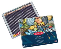 Picture of DERWENT STUDIO ASSORTED PENCIL TIN 24