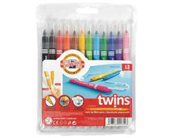 Picture of TWIN TIP FIBRE PENS 12PCS
