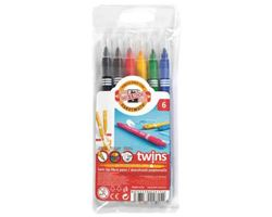 Picture of TWIN TIP FIBRE PENS 6PCS