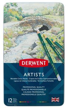 Picture of DERWENT ARTISTS ASSORT TIN 12