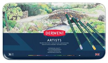 Picture of DERWENT ARTISTS ASSORT TIN 36