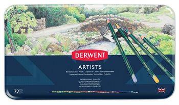 Picture of DERWENT ARTISTS ASSORT TIN 72
