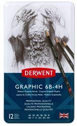 Picture of DERWENT GRAPHIC PENCILS MEDIUM 12'S 6B-4H