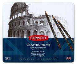 Picture of DERWENT GRAPHIC SET 24 / 9B-9H PENCILS