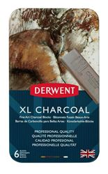 Picture of DERWENT XL CHARCOAL TIN 6