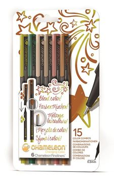 Picture of Chameleon Fineliner Nature Colours Set of 6