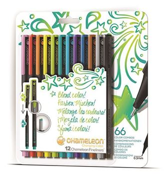 Picture of Chameleon Fineliner Bright Colours Set of 12