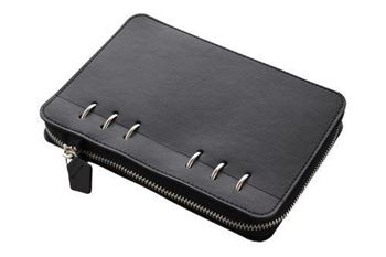 Picture of CLIPBOOK A5 MONOCHROME BLACK WITH ZIP