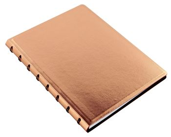 Picture of NOTEBOOK A5 SAFFIANO METALLIC ROSE GOLD