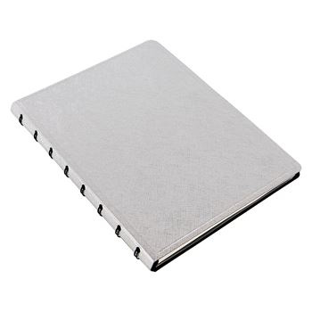 Picture of NOTEBOOK A5 SAFFIANO METALLIC SILVER