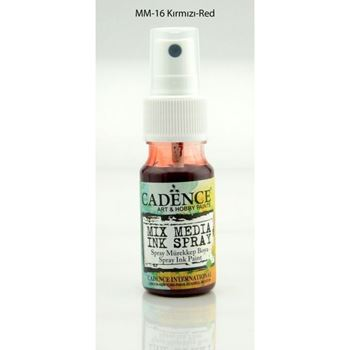 Picture of CADENCE SPRAY INK 25ML RED