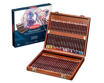 Picture of COLOURSOFT PENCILS WOODEN BOX 48 COLOURS