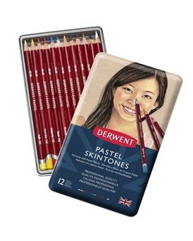 Picture of DERWENT PASTEL PENCILS SKIN TONE TIN 12