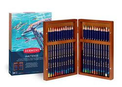 Picture of DERWENT INKTENSE WOODEN BOX SET 24
