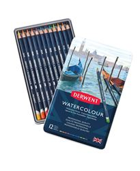Picture of DERWENT WATERCOLOUR ASSORT TIN 12