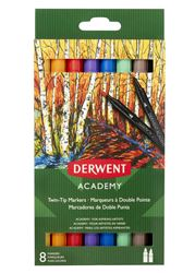Picture of DERWENT ACADEMY TWIN TIP BRUSH MARKERS