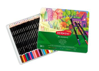 Picture of DERWENT ACADEMY COLOURING PENCILS TIN 24