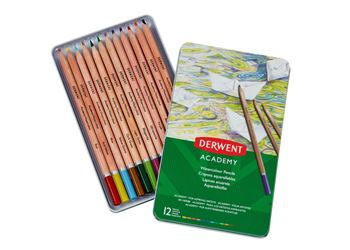 Picture of DERWENT ACADEMY WATERCOLOUR TIN 12
