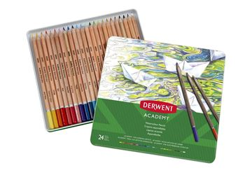 Picture of DERWENT ACADEMY WATERCOLOUR PENCIL TIN 24
