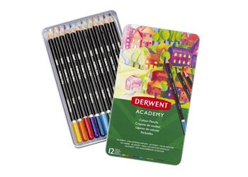 Picture of DERWENT ACADEMY COLOURING PENCILS TIN 12