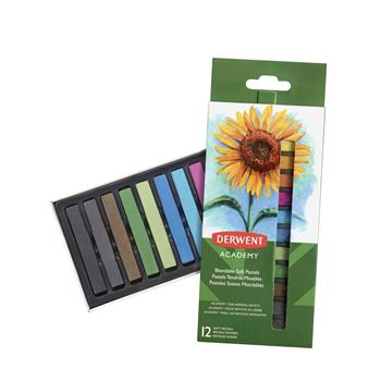 Picture of DERWENT ACADEMY SOFT PASTELS SET 12