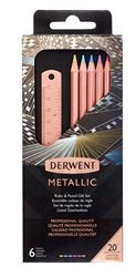 Picture of DERWENT METALLIC COPPER RULER SET