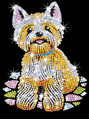 Picture of SEQUIN ART WESTIE THE DOG