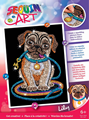 Picture of SEQUIN ART RED LILY PUG