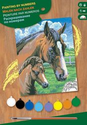 Picture of PAINT BY NO.JUNIOR HORSE AND FOAL