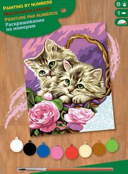 Picture of PAINT BY NO.JUNIOR FLORAL KITTENS