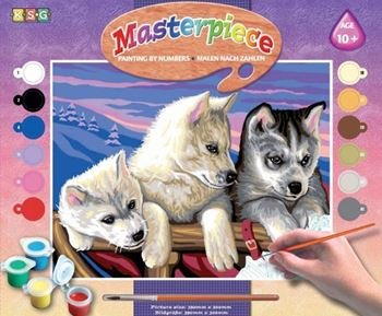 Picture of PAINT BY NUMBERS SENIOR HUSKIES