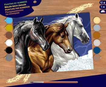 Picture of PAINT BY NUMEBRS SENIOR WILD HORSES