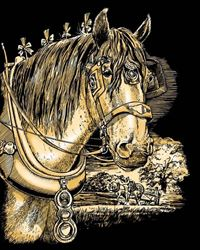 Picture of ARTFOIL GOLD SHIRE HORSE