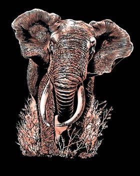 Picture of ARTFOIL COPPER ELEPHANT