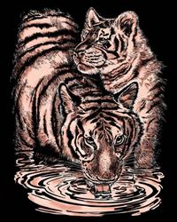 Picture of ARTFOIL COPPER TIGER AND CUB