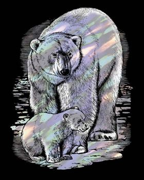 Picture of ARTFOIL HOLOGRAPHIC POLAR BEAR