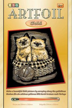 Picture of ARTFOIL GOLD KITTENS