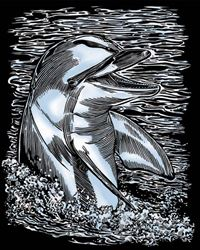 Picture of ARTFOIL SILVER DOLPHIN