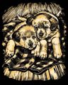 Picture of ARTFOIL GOLD PUPPIES