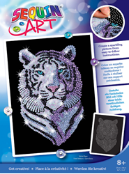 Picture of SEQUIN ART ORIGINAL SNOW TIGER