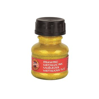 Picture of ARTIST DRAWING INK METALLIC GOLD YELLOW 20g