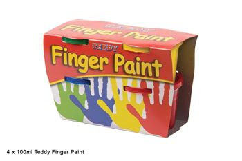 Picture of TEDDY FINGER PAINT 4X100ML TUB