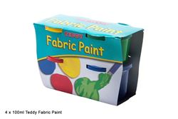 Picture of TEDDY FABRIC PAINT 4X100ML TUB